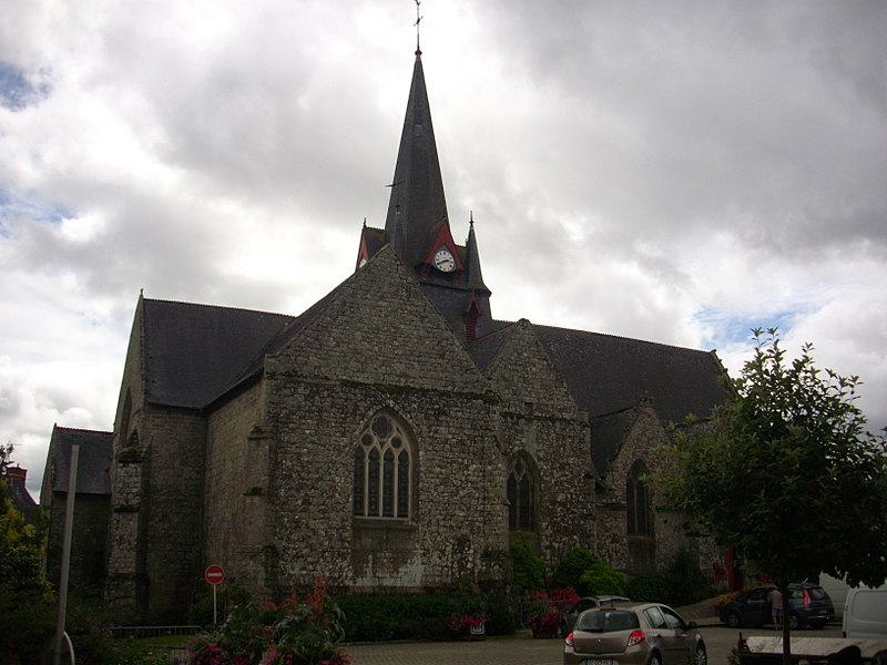 Saint Peter church of Sérent (Morbihan, France)