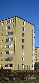 Södertorp Neighbourhood in Skåne County, Skåne, Sweden