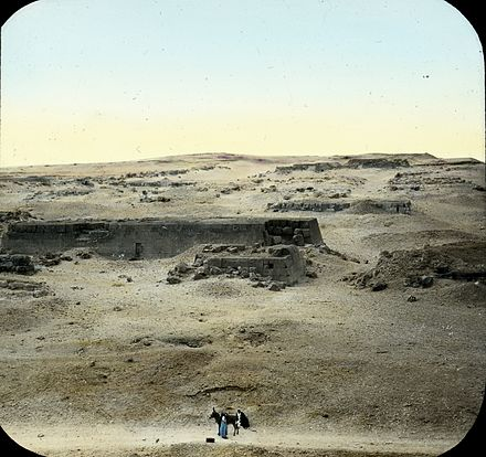 Lantern Slide Collection: Views, Objects: Egypt. Gizeh [selected images]. View 07: Egyptian - Old Kingdom. Plan of Temple of Khephren. Gizeh, 4th Dyn., n.d. Brooklyn Museum Archives S10.08 Gizeh, image 9615.jpg