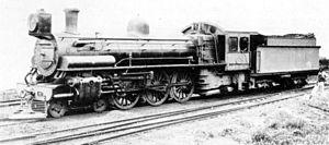 South African Class 10B 4-6-2 - Class 10B no. 756, ex CSAR Class 10-2 no. 674