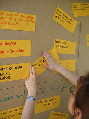 Brainstorming during a training week-end of Se...