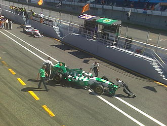 Sporting CP (Superleague Formula team) - Sporting CP car in the Estoril pitlane, 2009