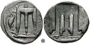 Crotone - Coin of Croton, c. 480-460 BC.