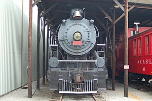 Southern Railway (U.S.) - Southern's 4501 on display at the Tennessee Valley Railroad Museum.