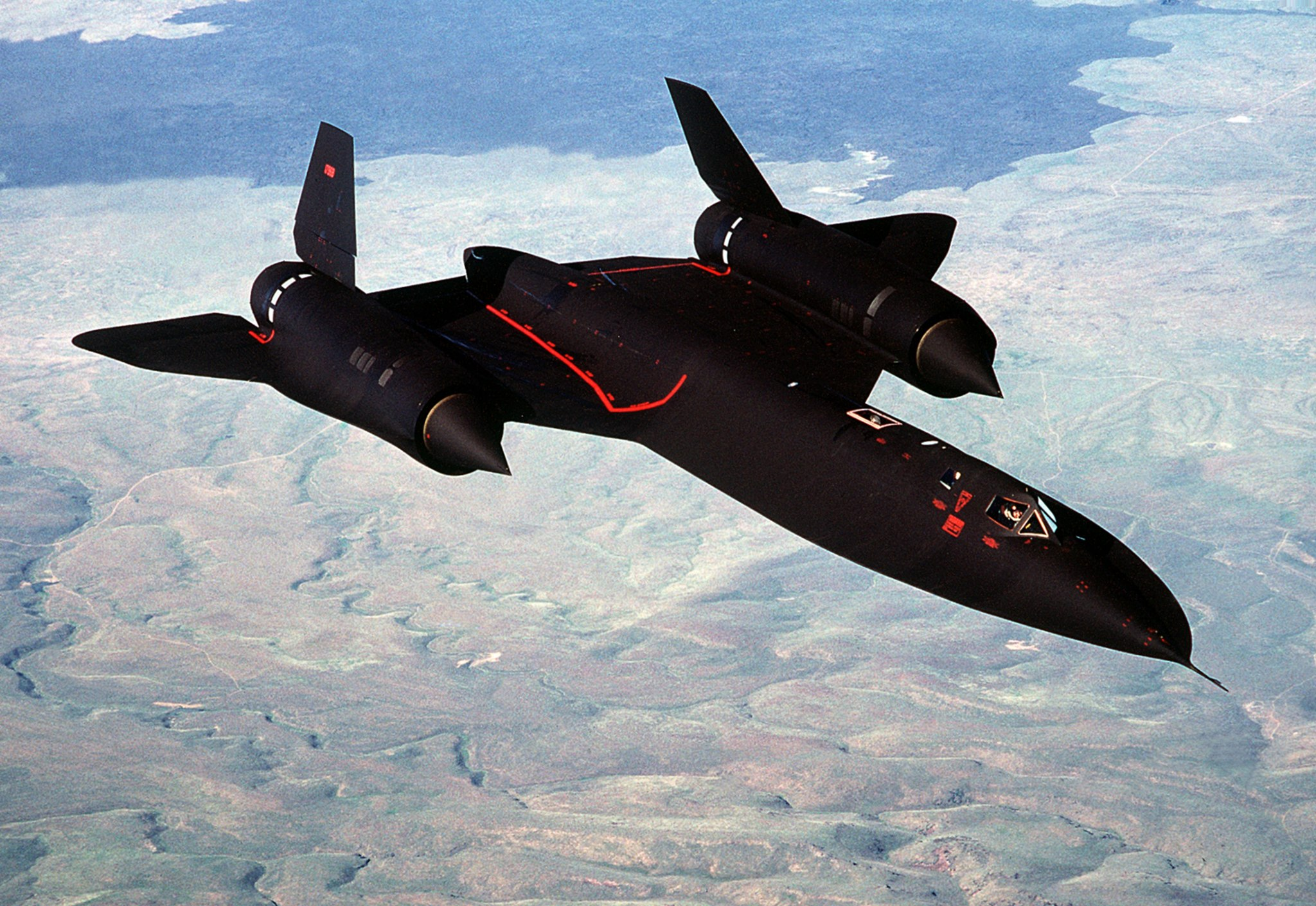 SR-71A in flight near Beale AFB 1988