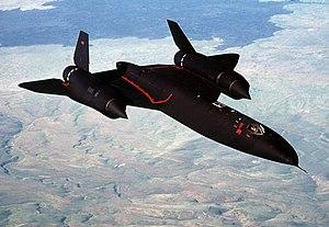 Reconnaissance aircraft - A USAF SR-71 high-speed reconnaissance aircraft