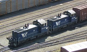 EMD SW900 - A pair of Southern Railway of British Columbia SW900s