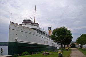 The Keewatin at rest in Saugatuck