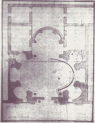 English College, Rome - Plan for an oval church