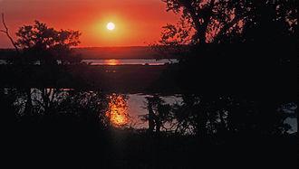 Cuando River - Sunset over the Chobe River in Botswana's Chobe National Park