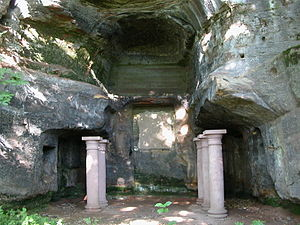 Saarbrücken - The Mithras shrine at Halberg hill