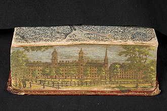 Fore-edge painting - Image: Sacred Poetry Fore Edge Painting