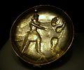 Safata amb la figura del rei caçant, Pèrsia Sassànida, província de Perm, segle IV, plata.JPG