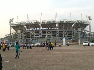 Hopkins Architects - Maharashtra Cricket Association Stadium at Gahunje, the home ground of Pune Warriors India from 2012–2013