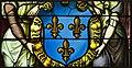Saint-Chapelle de Vincennes - Baie 2 - Deux anges présentant les armes de France (détail) (bgw17 0494).jpg