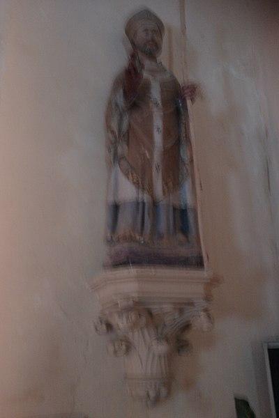 Statue de Saint Pellerin dans l'église Saint-Pellerin