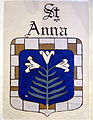 Saint Ann Catholic Church (Dresden, Ohio) - St. Ann shield.JPG