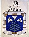 Saint Ann Catholic Church (Dresden, Ohio) - St. Ann shield.JPG