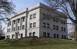 Saline County, Nebraska courthouse from NE.JPG