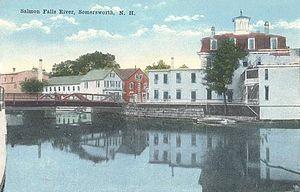 Berwick, Maine - Image: Salmon Falls River from Somersworth, NH