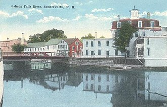 Berwick, Maine - Image: Salmon Falls River from Somersworth, NH