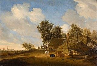Landschap met boerenhofstede