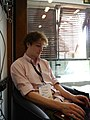 Sam Ballard on the Saturday afternoon of Wikimania 2014 01.jpg