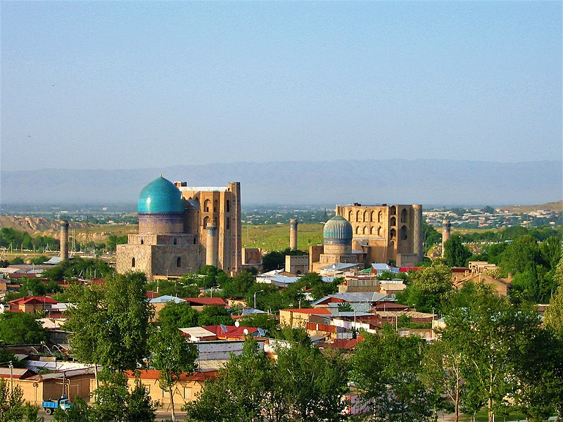 Datei:Samarkand view from the top.jpg