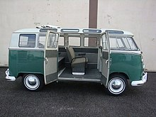 054655cbaf A Volkswagen Transporter (T1) Samba model 21 window