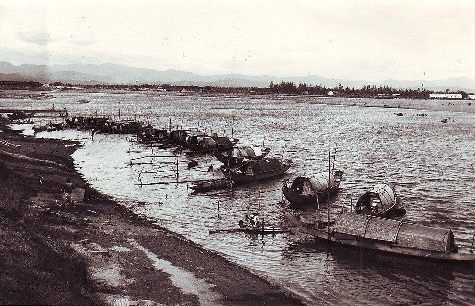 Sampans Along the Thach Han River August,1967