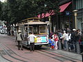 San Francisco cable car no. 24 boarding at Powell St. turnaround.JPG
