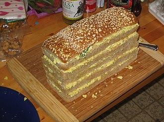 Sandwich loaf - Sandwich loaf before frosting