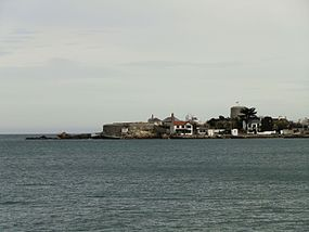 Sandycove with James Joyce Tower.JPG