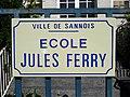 Sannois - Panneau ecole Jules-Ferry.jpg