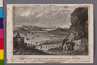 Santa Catharina - Desterro - Desterro (Actuelle Florianopolis, Capitale de Santa Catharina) Au Moment de La Visite de La Pérouse em 1785. (Gravure de L'Époque)