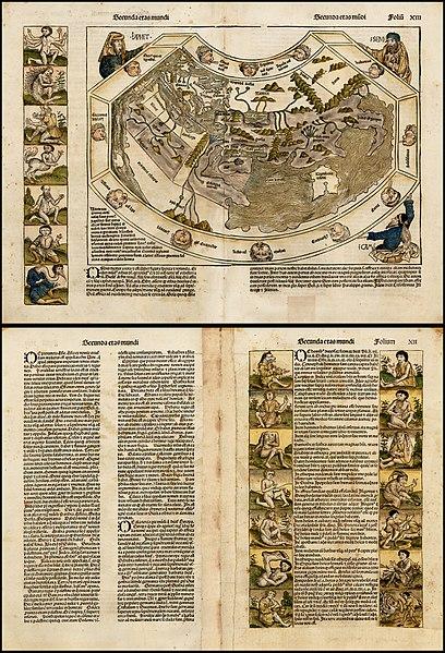 File:Schedelsche Weltchronik — Secunda etas mundi — Folio 12v 13r.jpg