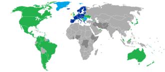 Visa policy of the Schengen Area - Image: Schengen visa requirements