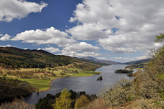 Loch Tummel lake in the United Kingdom
