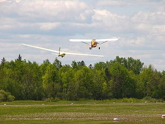 Kars/Rideau Valley Air Park - A Champion 7GCAA Citabria towing a Schweizer SGS 1-34 sailplane at Rideau Valley Air Park