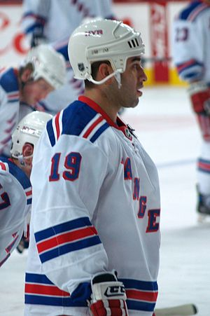 Scott Gomez - Gomez with the New York Rangers in 2008.