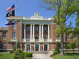 Scott County, Missouri - Image: Scott County Courthouse retouched