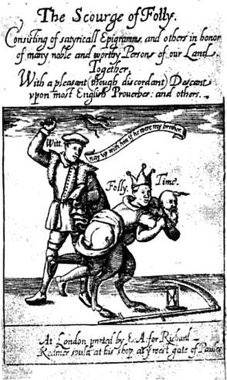 -mastix - The Scourge of Folly, 1610 title page of a work by John Davies of Hereford