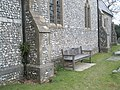 Seat outside St Peter's, High Cross - geograph.org.uk - 1183423.jpg