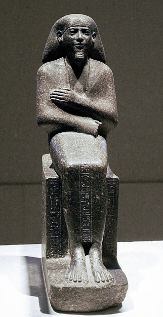 Mentuemhat - Seated figure of Mentuemhat in Neues Museum, Berlin