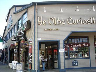 Ye Olde Curiosity Shop - The current shop on Pier 54 (2007).