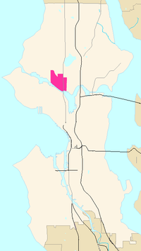 Fremont's location in Seattle