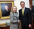 Secretary Clinton and German Foreign Minister Westerwelle Smile for a Photo (6733385609).jpg