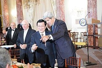 Trương Tấn Sang - Secretary Kerry Introduces Vietnamese President Truong Tan Sang to Members of the U.S. Congress