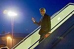 Secretary Kerry Waves as he Deplanes at Geneva Airport in Geneva, Switzerland (29268558060).jpg