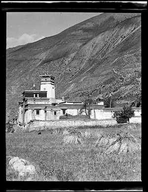 Milarepa - The nine storey tower that Milarepa single-handedly built, Sekhar Gutok, Lhodrag, Tibet.